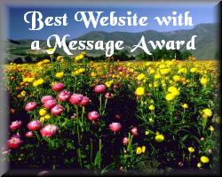 Becky's Best Website with a Message Award